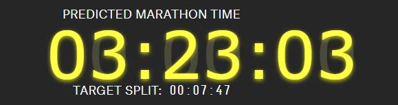 predicted marathon time 01